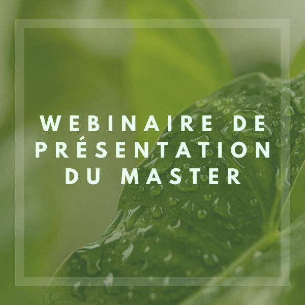 Présentation du Master Management de la Transition Écologique et de l'Économie Circulaire à Montpellier