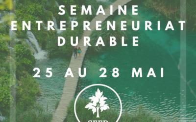 Semaine de l'Entrepreneuriat Durable par le Master MTEEC à Montpellier